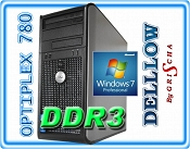 DELL 780 C2D E8400 3,0GHz 6MB / 2GB / 160GB / DVD / Tower / Windows 7 Professional ZAINSTALOWANY