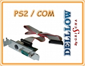 Adapter LOW 1x PS2, 1x COM do DELL GX280, GX520, GX620 SLIM