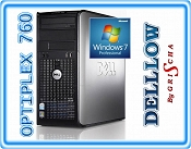 Dell OptiPlex 760 DUAL CORE E5300 2 x 2,6GHz  / 2GB / 160GB / DVD / TOWER / Windows 7 Professional ZAINSTALOWANY