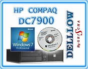 HP Compaq dc7900 C2D E8400 3,0GHz 4GB 160GB DVD-RW Windows 7 Professional 32+64BIT