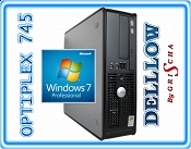 Dell 745 C2D E6400 2,13Hz / 2GB / 80GB / DVD + Windows 7 Professional PL